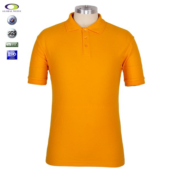 No pocket short sleeve cheap man black and yellow polo for Name brand golf shirts direct