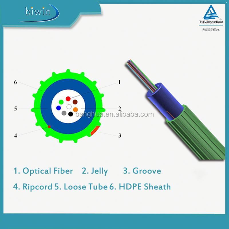 Super-Mini Type 2 core fiber optic cable