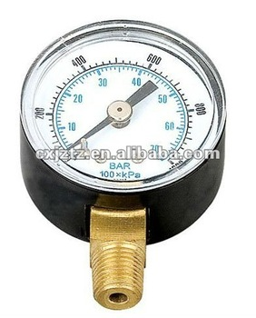 50mm Standard Pressure Gauge with adjustable red indicative pointer
