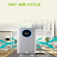 Plastic material 2017 new design air purifier with ionizer air purifier hepa filter for home and office