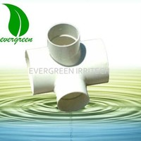 4209 pvc cross joint pipe fitting for water irrigation