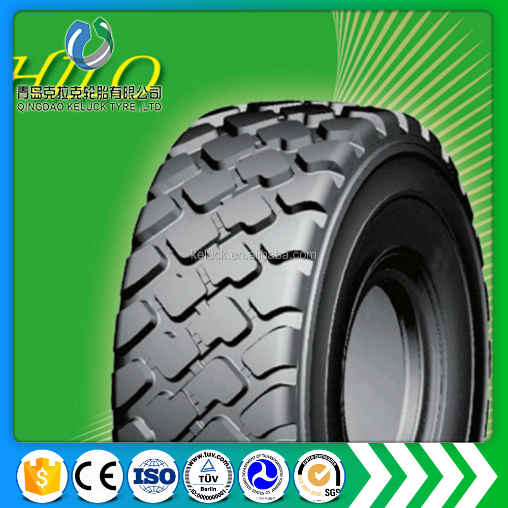 Top quality Hilo Manufacture best radial otr tyer tire 23.5R25 B01N/B02N pattern off road heavy dump trucks gomma