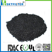 Carbon water treatment filter material for sale