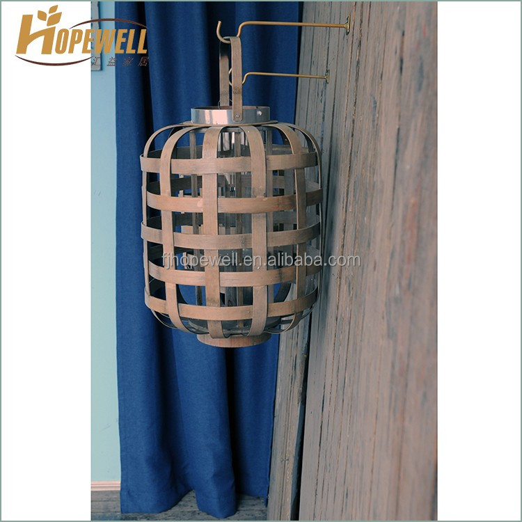 Custom vintage brown bamboo maroccan hand cheapest candle lantern
