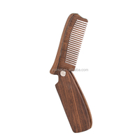 OEM personalized pocket sessile wooden moustache beard comb