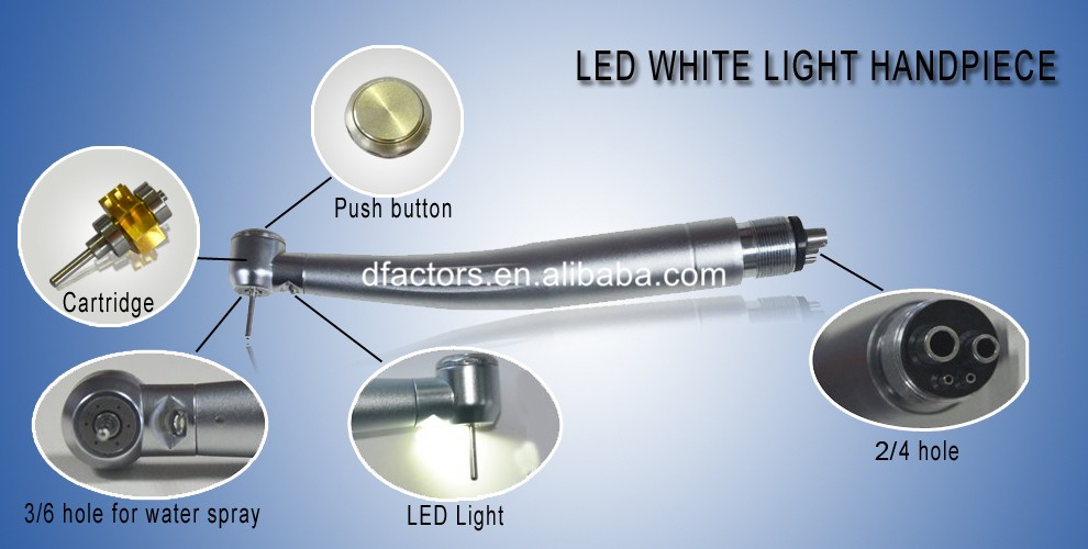 Dental equipment Dental high speed handpiece with LED light E-generator