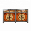 Wholesale Chinese solid wood reproduction hand painted floral cabinet furniture