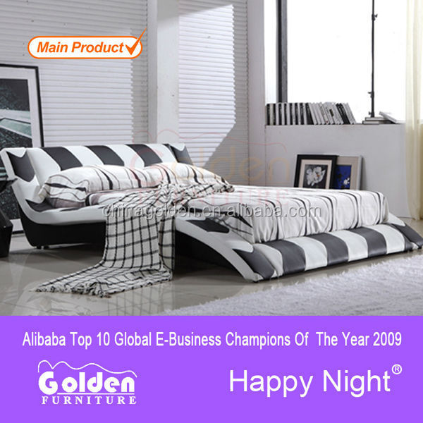 Foshan new furniture designs alibaba king size sleigh bed G1024b