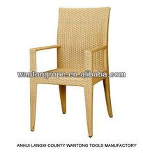 Alum Frame Outdoor Stacking Rattan Wicker Chair