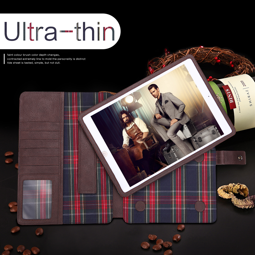 Wholesale alibaba 3 Folding Stand Silk Design genuine Leather Case for iPad 12.9INCH