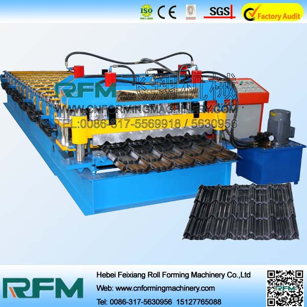 FX competitive price glazed steel tile cold roll forming machine