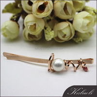 Wholesale ladies charm love shell pearl hair spin pins