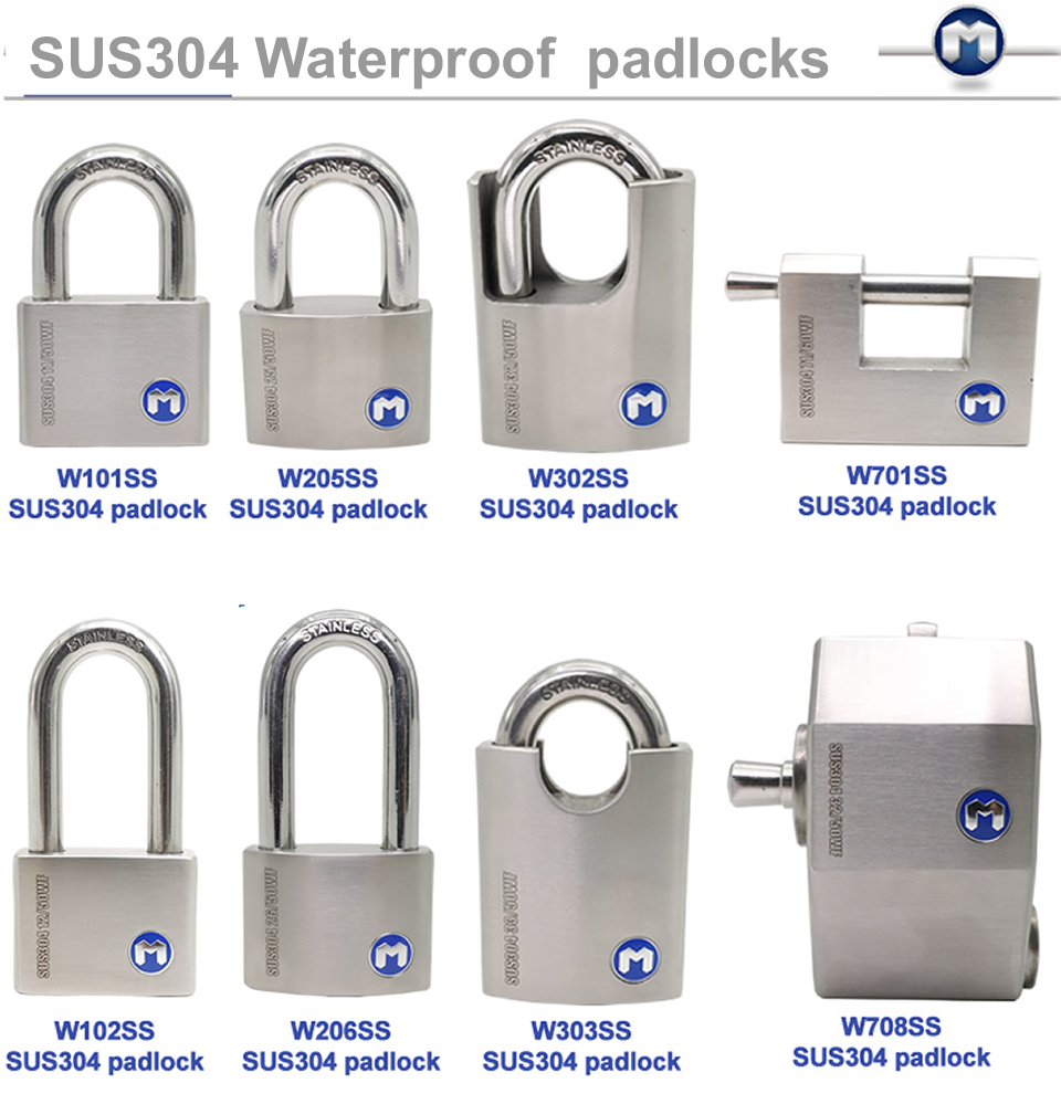 MOK@W102/SS Big sale bravo lock short shackle stainless steel pin tumbler padlock
