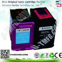 Sunjoy ink cartridge CZ105AL CZ106A for hp 662 cartridge ink for hp 1515 2515 3515 3545 2545 2645