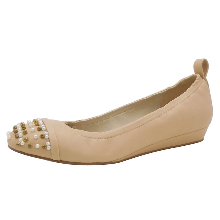 Custom Color Promotion US round toe Nude Girls Rubber Wedge
