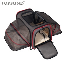 Extended And folded Soft Dog Cat Pet Travel Carrier Transparent Pet Carrier