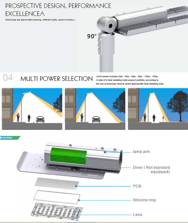 Modern design high output available led garden lights outdoor