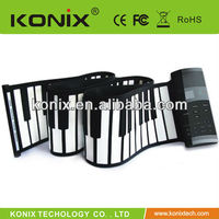 61 Keys Roll up Electronic Piano Keyboard Flexible Roll up Electronic Keyboard Piano with Speaker