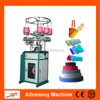 Rib Cuff Knitting Machine with Spandex Yarn Feeder