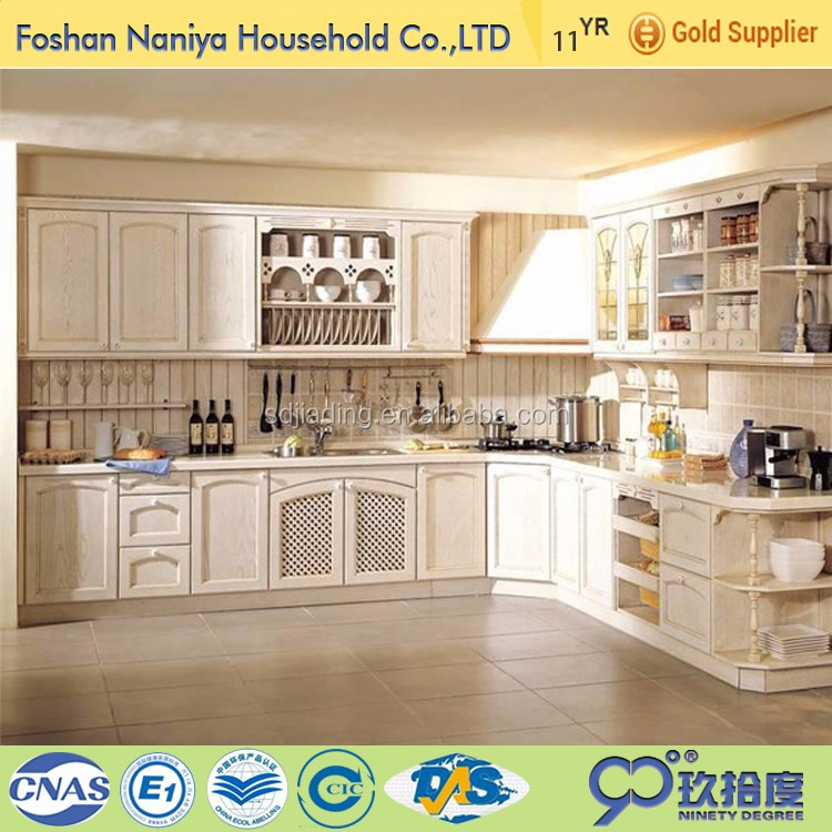Professional mould modern design wood kitchen <strong>cabinet</strong> made in china flat pack furniture