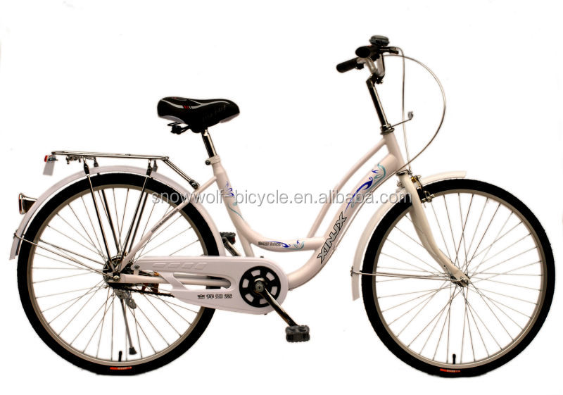 Steel Frame Dutch Bike With Basket Classic Dutch Bicycle White Oma ...