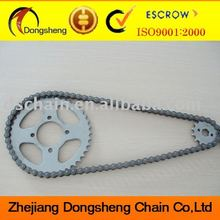 Motorcycle aluminum sprocket and chains Set