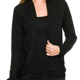Cardigans for Womens Casual Long Sleeve Outwear Kimono Open Front Slub Knit Cardigan Wrap