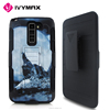 IVYMAX Hot Seller Heavy Duty Black Armor Holster Hybrid Case Cover with Belt Clip For LG K520 Stylus2/LS775 Printed Case