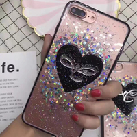 Mobile Phone Accessories, TPU Clear Cell Phone Case Soft Shimmering Powder Mobile Phone Cover