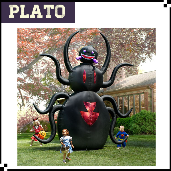 Large inflatable black monster toy/halloween inflatable terrible model for kids