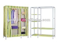 Easy assembly metal fabric closet