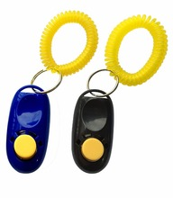 Eco-Friendly Pet training product Dog Training Clicker with Wrist Strap
