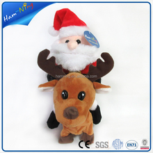 New stuffed santa claus riding electronic reindeer the best trend christmas gift