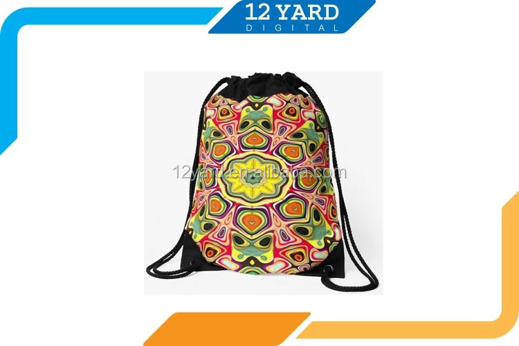 outdoor country flag printed drawstring backpack