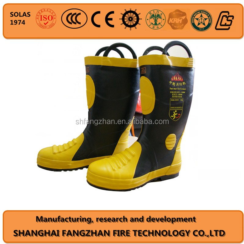 rubber fireman boots for firefighter safety boots