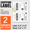 A4 Shipping Labels 2 Per Sheet