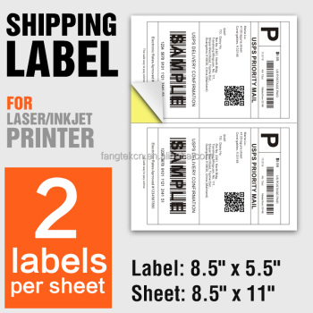A4 shipping labels 2 per sheet 8.5 x 5.5 self adhesive half sheet logistic stickers for eBay/USPS
