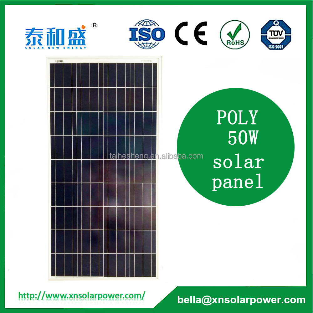 China manufacture PV poly 50W solar panel for sale