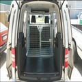 Heavy duty deluxe vehicle crate dog cage with three doors
