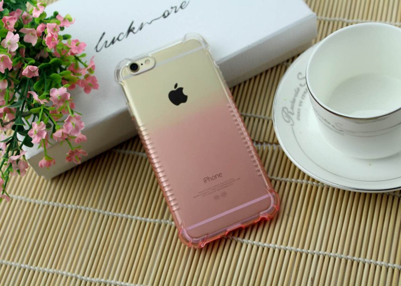 2016 newest hotselling gradient color shockproof TPU phone case for iphone 6 case back covers for other phone