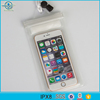 popular hot sale waterproof phone bags with clear window and velcro zippers for mobile phone