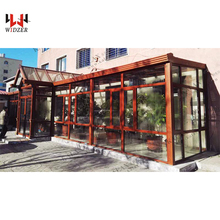 Sliding sun room swing glass door & windows with best quality bearing extramely temperature