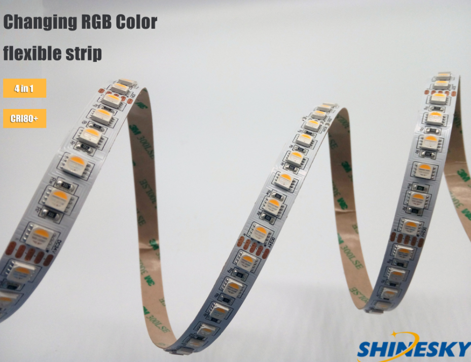 multi color 5050 rgbw Shenzhen led strip light with factory price