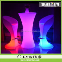 battery operated color changing bar furniture with led