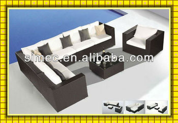 morden design outdoor PE rattan furniture SCSF-107