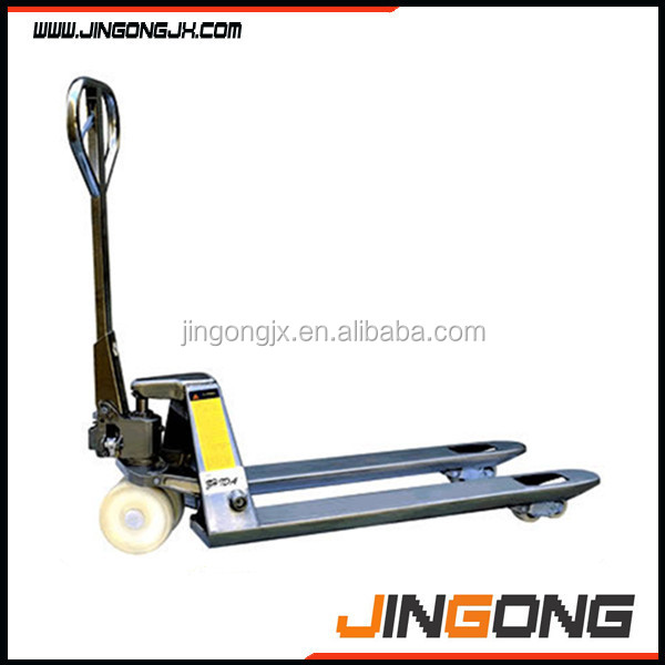 Stainless Steel Hand Jack : Stainless steel pallet truck jack with ce