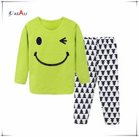 New Design Kids Unisex Sleepwear Clothing Pajamas cotton shirts and pants