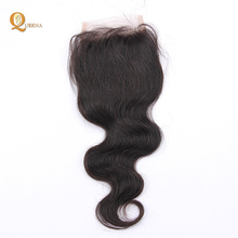 Body wave 8A lace closure 4X4 in stock natural balck virgin hair bundles