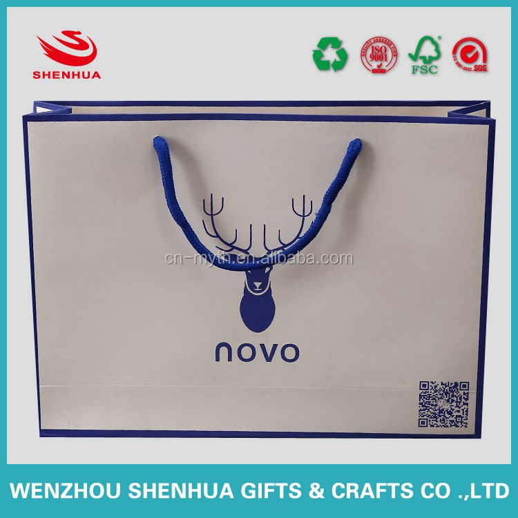 custom paper bag shopping bag with your own logo