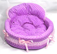 New Princess Cute Cozy warm Soft Lace Pet Bed house